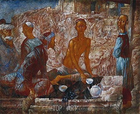 Samarkand Scene, 1921 | Kuzma Petrov-Vodkin | Painting Reproduction