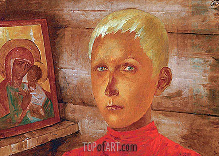 Vasya, c.1922 | Kuzma Petrov-Vodkin| Painting Reproduction