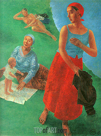 First Steps, 1925 | Kuzma Petrov-Vodkin| Painting Reproduction