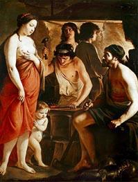 Venus in der Schmiede des Vulkan, 1641 von Le Nain Brothers | Gemälde-Reproduktion