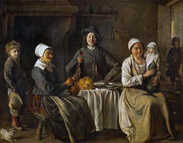 Peasant Family (The Return from the Baptism) | Le Nain Brothers | outdated