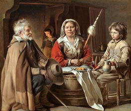 A French Interior | Le Nain Brothers | Painting Reproduction