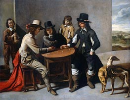 Dice Players (The Gamblers), c.1630/80 by Le Nain Brothers | Painting Reproduction