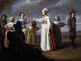 Children Dancing, c.1650 by Le Nain Brothers | Painting Reproduction