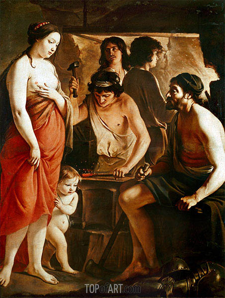 Venus in Vulcan's Forge, 1641 | Le Nain Brothers | Painting Reproduction