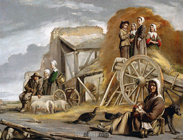 Der Heuwagen, 1641 | Le Nain Brothers | Gemälde Reproduktion