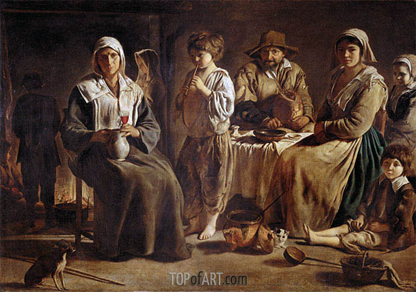Le Nain Brothers | Peasant Family in an Interior, c.1642