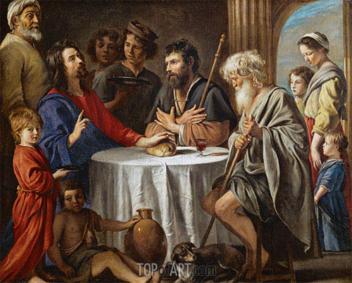 Supper at Emmaus, c.1642 | Le Nain Brothers | Painting Reproduction