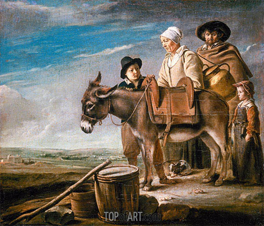Milkmaid's Family, c.1641 | Le Nain Brothers | Painting Reproduction