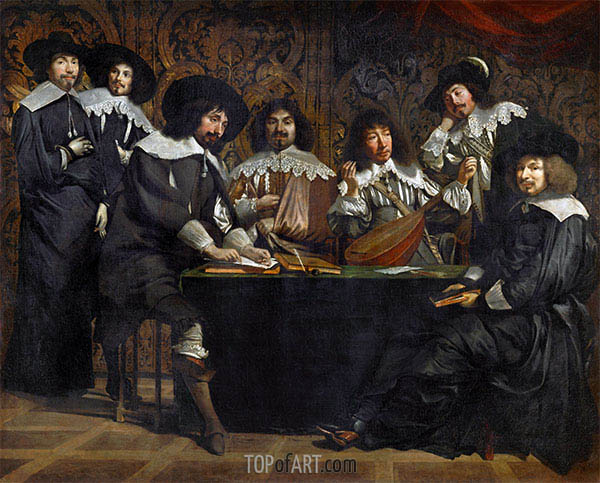 Le Nain Brothers | Die Akademie, c.1640/49