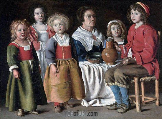 Le Nain Brothers | Eine Frau und fünf Kinder, 1642