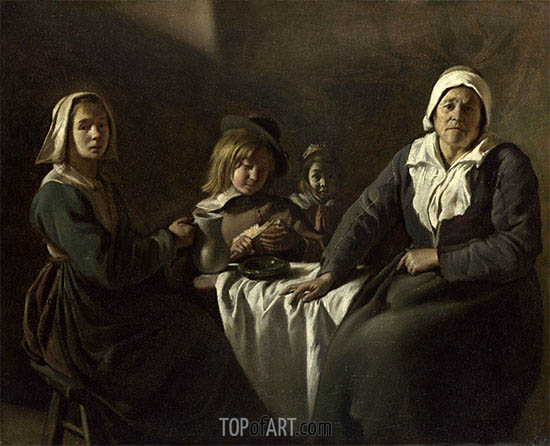 Le Nain Brothers | Four Figures at a Table, c.1643