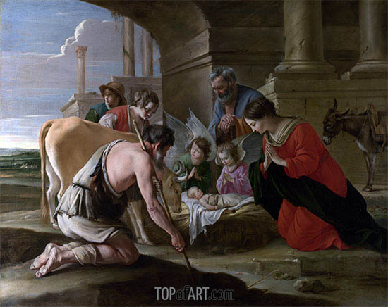 Die Anbetung der Hirten, c.1640 | Le Nain Brothers | Gemälde Reproduktion