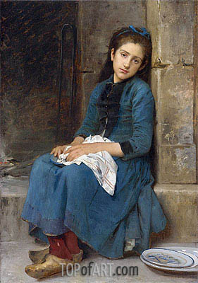 Pensive Girl (Innocence), 1904 | Leon-Jean-Bazille Perrault | Painting Reproduction