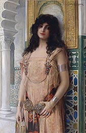 An Eastern Beauty, undated by Leon Comerre | Painting Reproduction