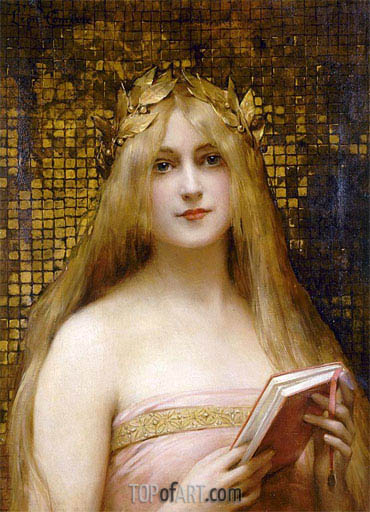 Girl with a Golden Wreath, undated | Leon Comerre | Painting Reproduction