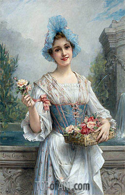 The Flower Seller,  | Leon Comerre | Painting Reproduction