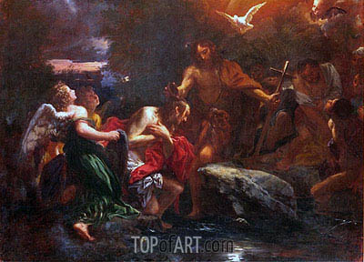Baptism of Christ, c.1673 | Lieven Mehus | Painting Reproduction