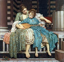 Music Lesson, 1877 by Frederick Leighton | Painting Reproduction
