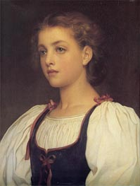 Biondina, 1879 by Frederick Leighton | Painting Reproduction