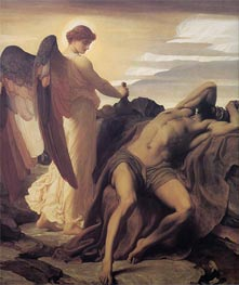 Elijah in the Wilderness, c.1877/78 by Frederick Leighton | Painting Reproduction
