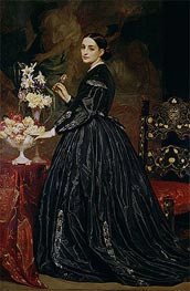 Mrs James Guthrie, c.1864/65 by Frederick Leighton | Painting Reproduction