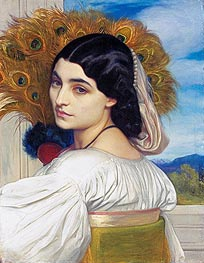 Pavonia, 1859 by Frederick Leighton | Painting Reproduction