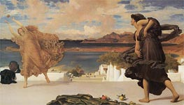 Greek Girls Playing at Ball, c.1889 by Frederick Leighton | Painting Reproduction