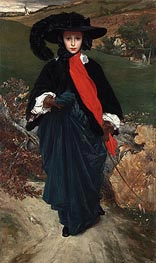 May Sartoris, c.1860 by Frederick Leighton | Painting Reproduction