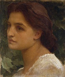 Portrait of a Young Lady (Vittoria), undated von Frederick Leighton | Gemälde-Reproduktion