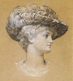 Portrait of Dorothy Dene, 1884 by Frederick Leighton | Painting Reproduction