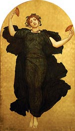 The Dance of the Cymbalists (Central Panel), undated by Frederick Leighton | Painting Reproduction