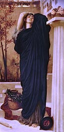 Electra at the Tomb of Agamemnon, undated by Frederick Leighton | Painting Reproduction