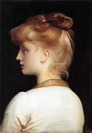 Profile of a Girl, undated von Frederick Leighton | Gemälde-Reproduktion