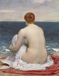 Psamanthe, 1880 by Frederick Leighton | Painting Reproduction