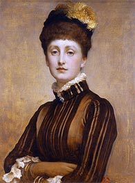 May Prinsep, 1885 by Frederick Leighton | Painting Reproduction