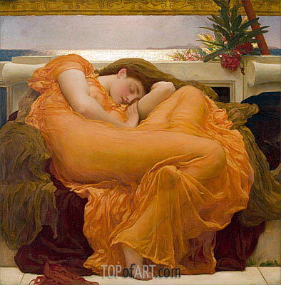 Flaming June, 1895 | Frederick Leighton | Gemälde Reproduktion