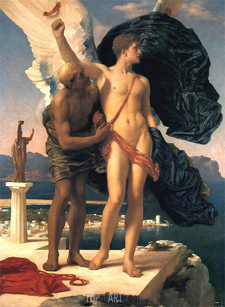 Frederick Leighton | Daedalus and Icarus, c.1869