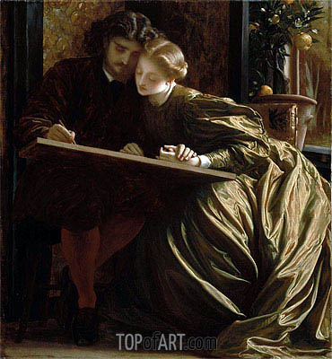 The Painter's Honeymoon, c.1864 | Frederick Leighton| Gemälde Reproduktion
