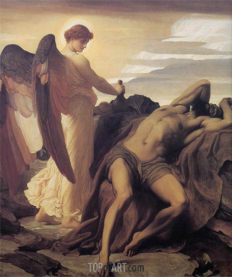 Frederick Leighton | Elijah in the Wilderness, c.1877/78
