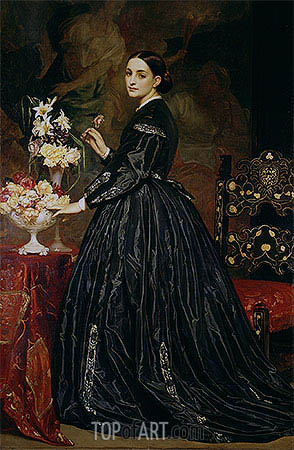 Mrs James Guthrie, c.1864/65 | Frederick Leighton| Painting Reproduction