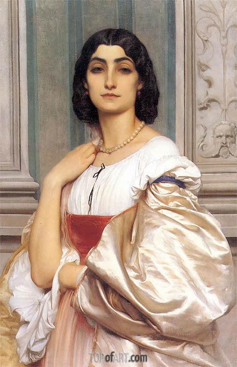 Frederick Leighton | A Roman Lady (La Nanna), c.1858/59