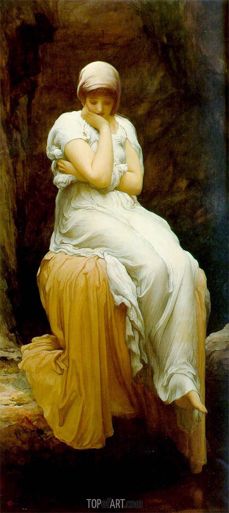 Solitude (Seated), 1890 | Frederick Leighton | Painting Reproduction