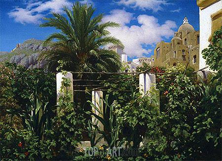 Garden of an Inn, Capri, c.1861   Frederick Leighton   Painting Reproduction