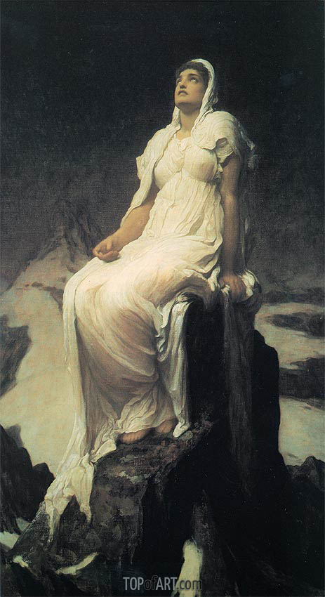 Frederick Leighton | The Spirit of the Summit, c.1894