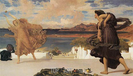 Greek Girls Playing at Ball, c.1889 | Frederick Leighton| Painting Reproduction