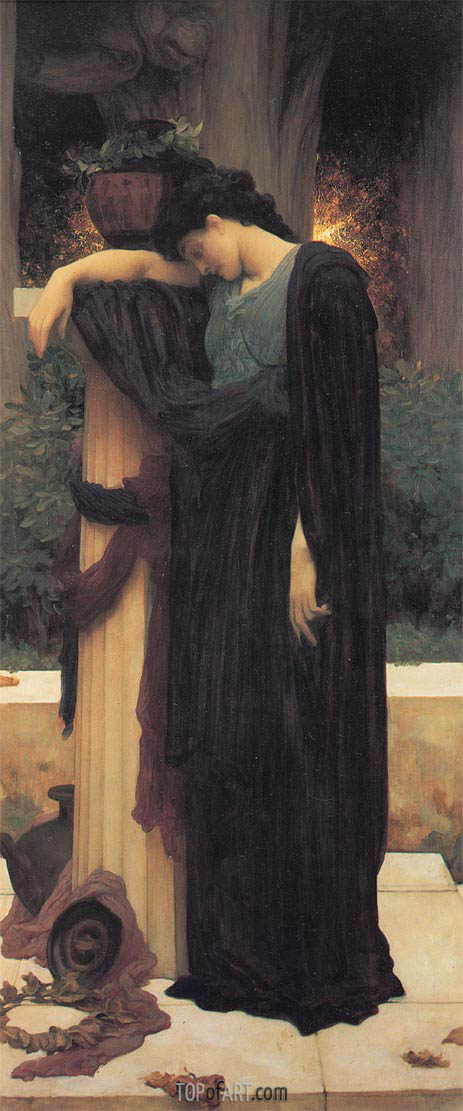Lachrymae (Mary Lloyd), c.1894/95 | Frederick Leighton| Painting Reproduction