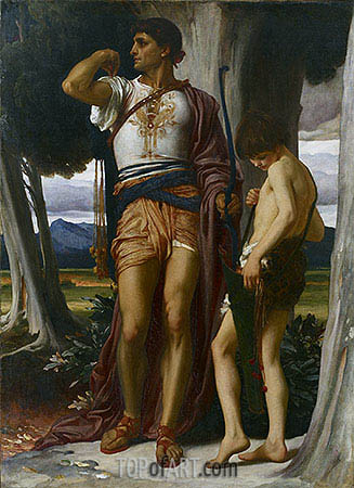Jonathan's Token to David, c.1868 | Frederick Leighton | Gemälde Reproduktion