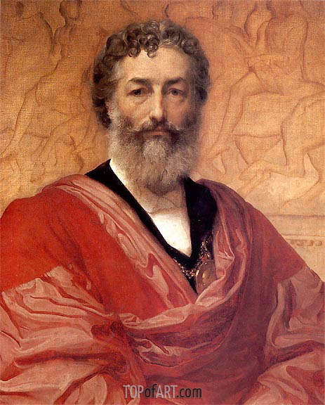 Self Portrait, 1880 | Frederick Leighton | Painting Reproduction