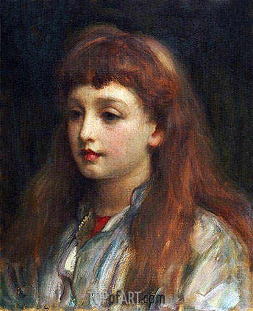 Portrait of a Young Girl, undated | Frederick Leighton | Painting Reproduction